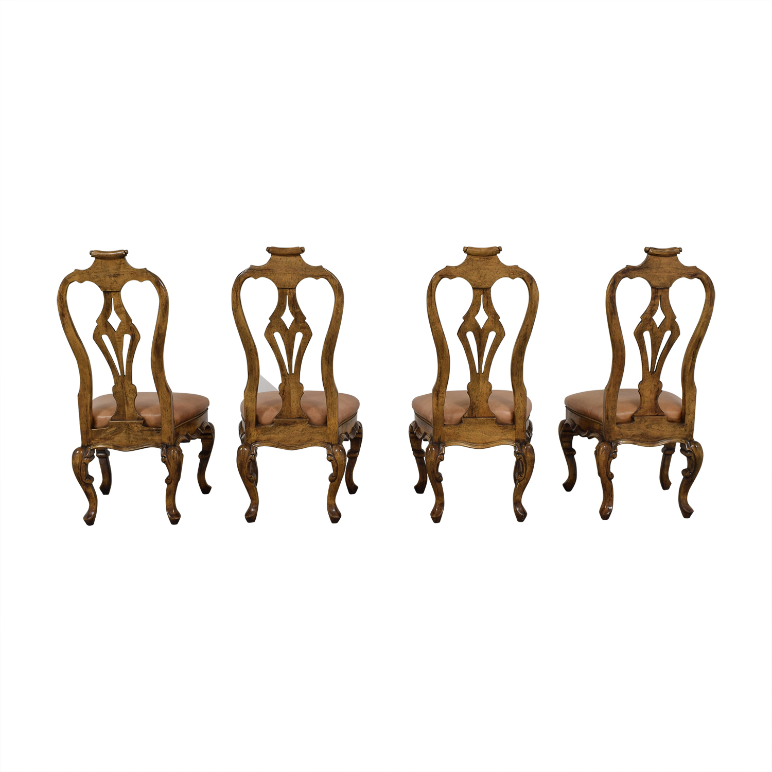 Bausman and Co Bausman and Co Portuguese Queen Anne Tan Dining Chairs on sale