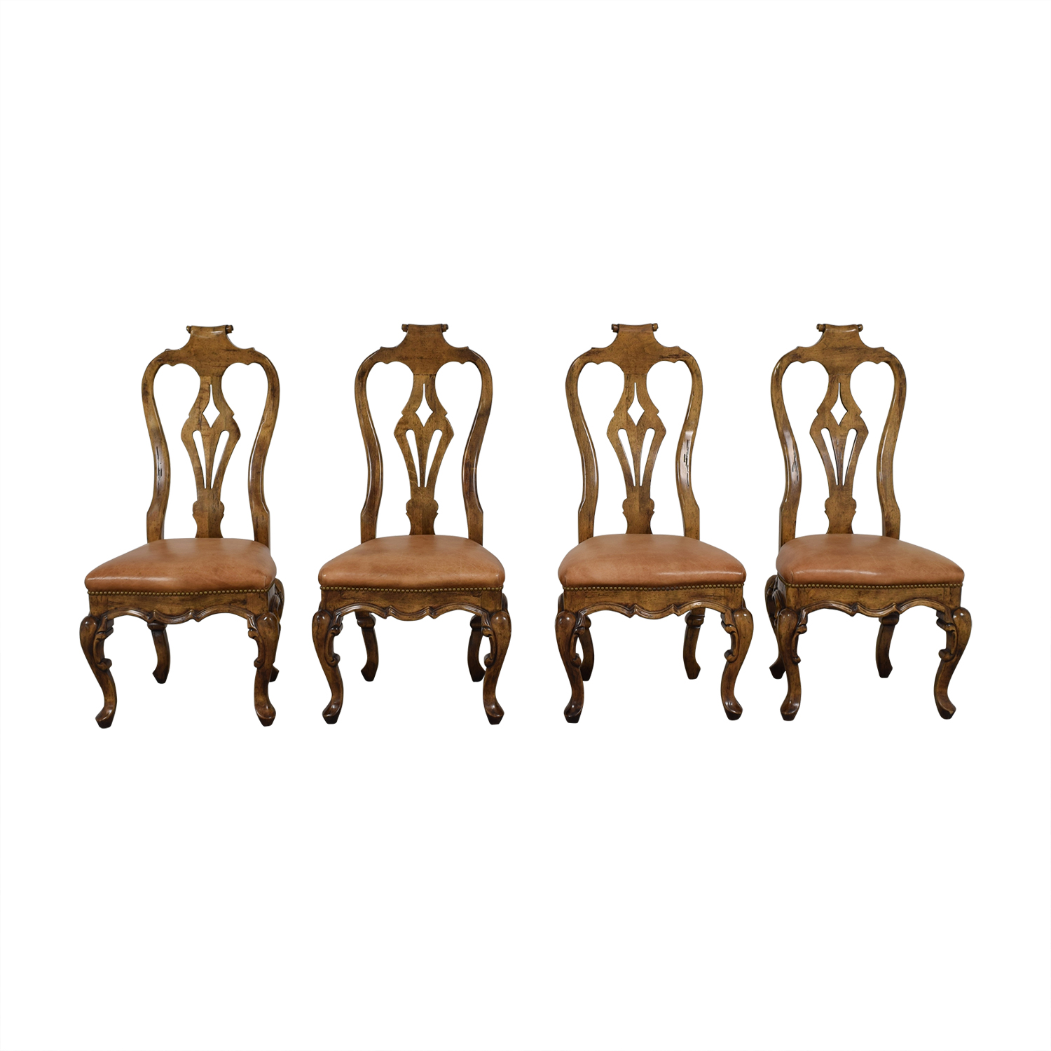 shop Bausman and Co Bausman and Co Portuguese Queen Anne Tan Dining Chairs online