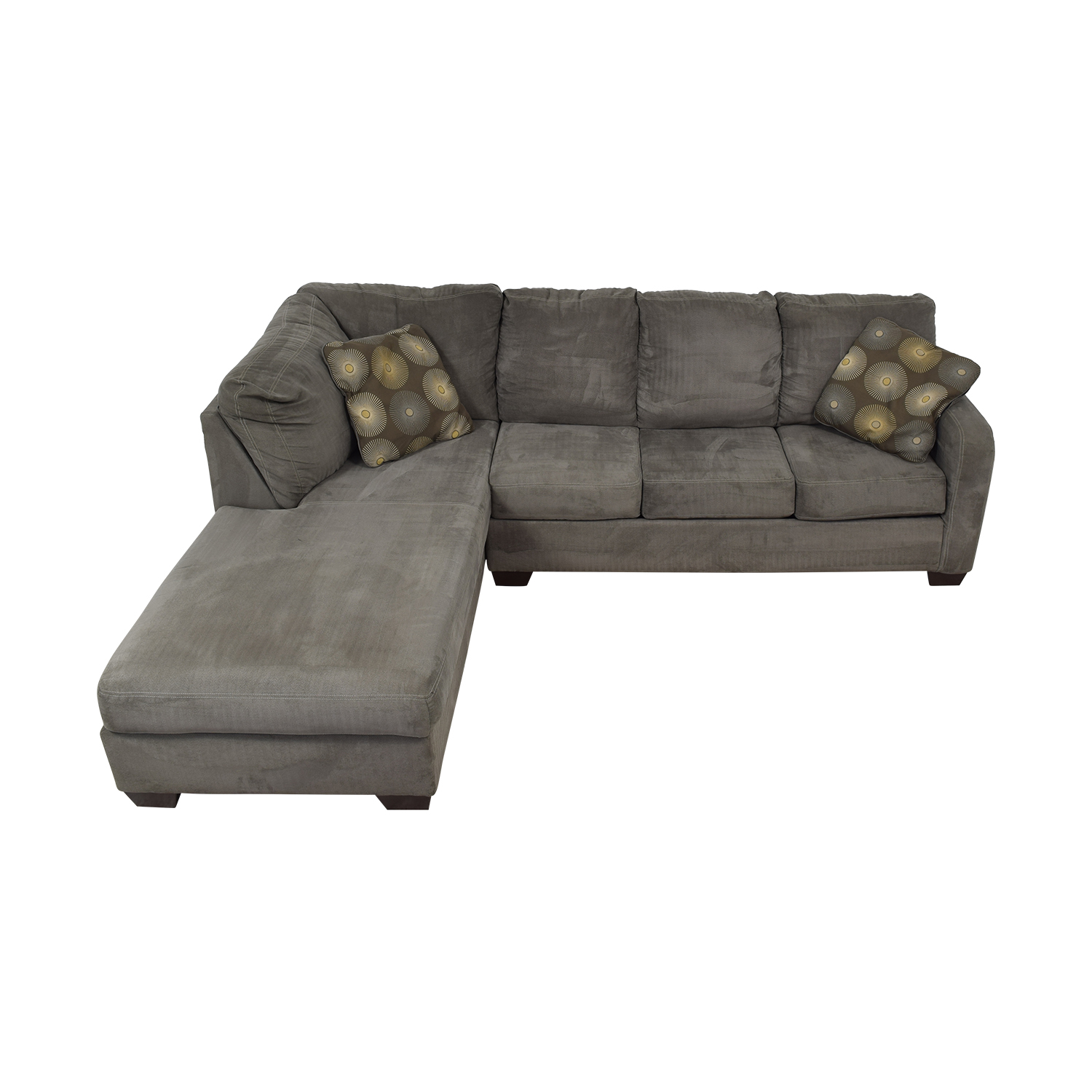 Ashley Furniture Ashley Furniture Gray Sectional dimensions