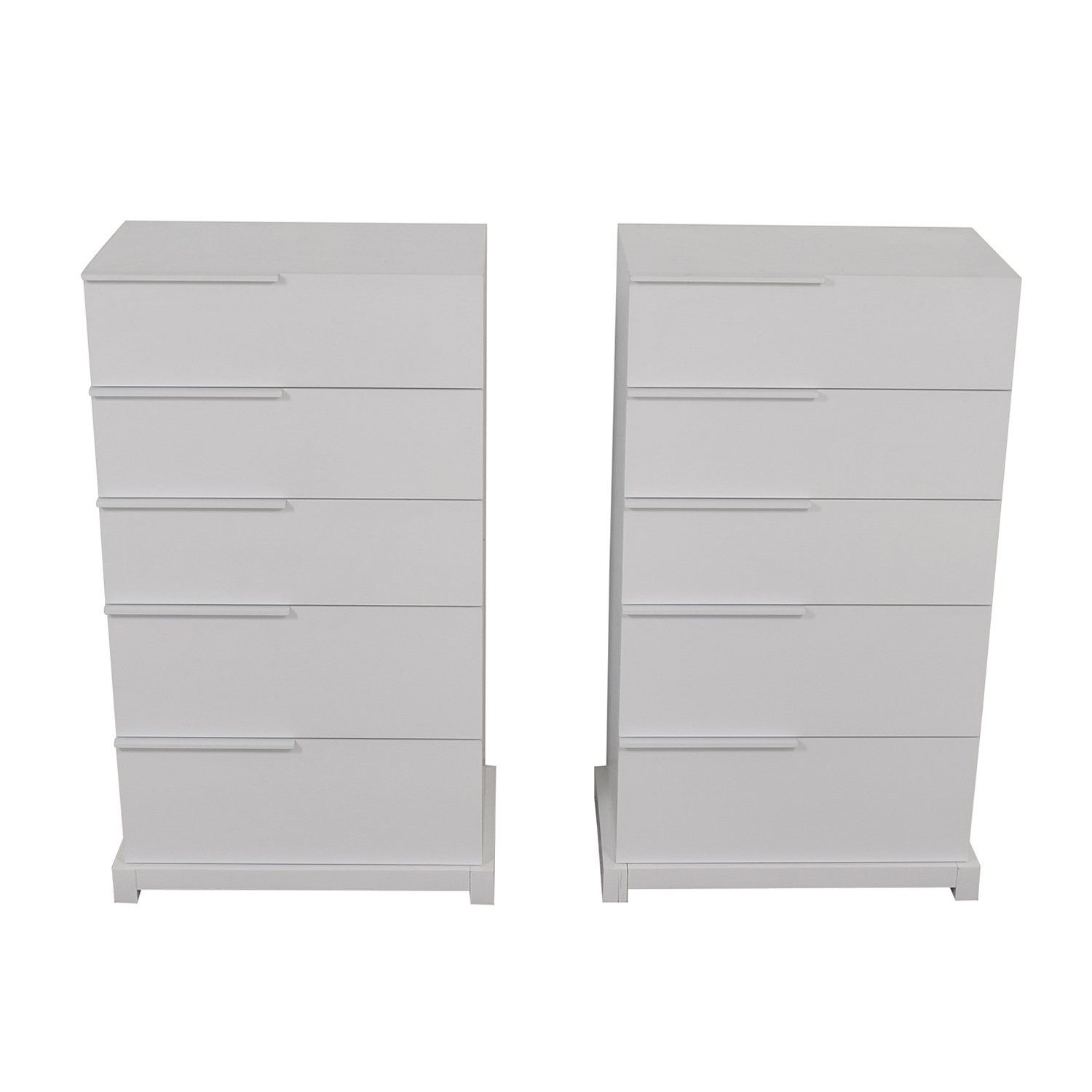Huppe Huppe White Five-Drawer Dressers second hand