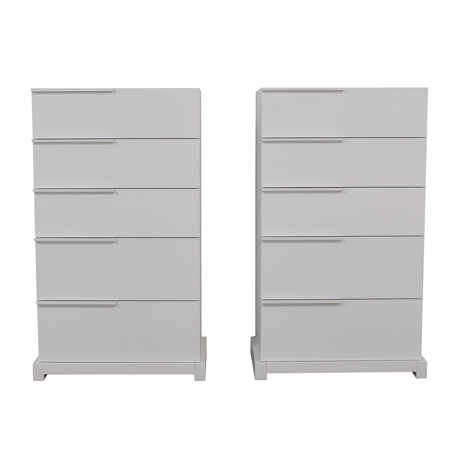 Huppe Huppe White Five-Drawer Dressers nj