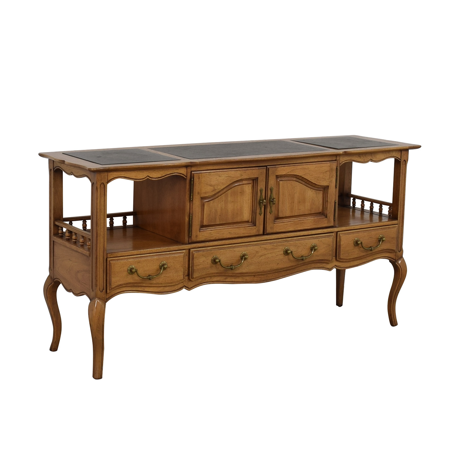 buy Thomasville Walnut Three-Drawer Server Thomasville