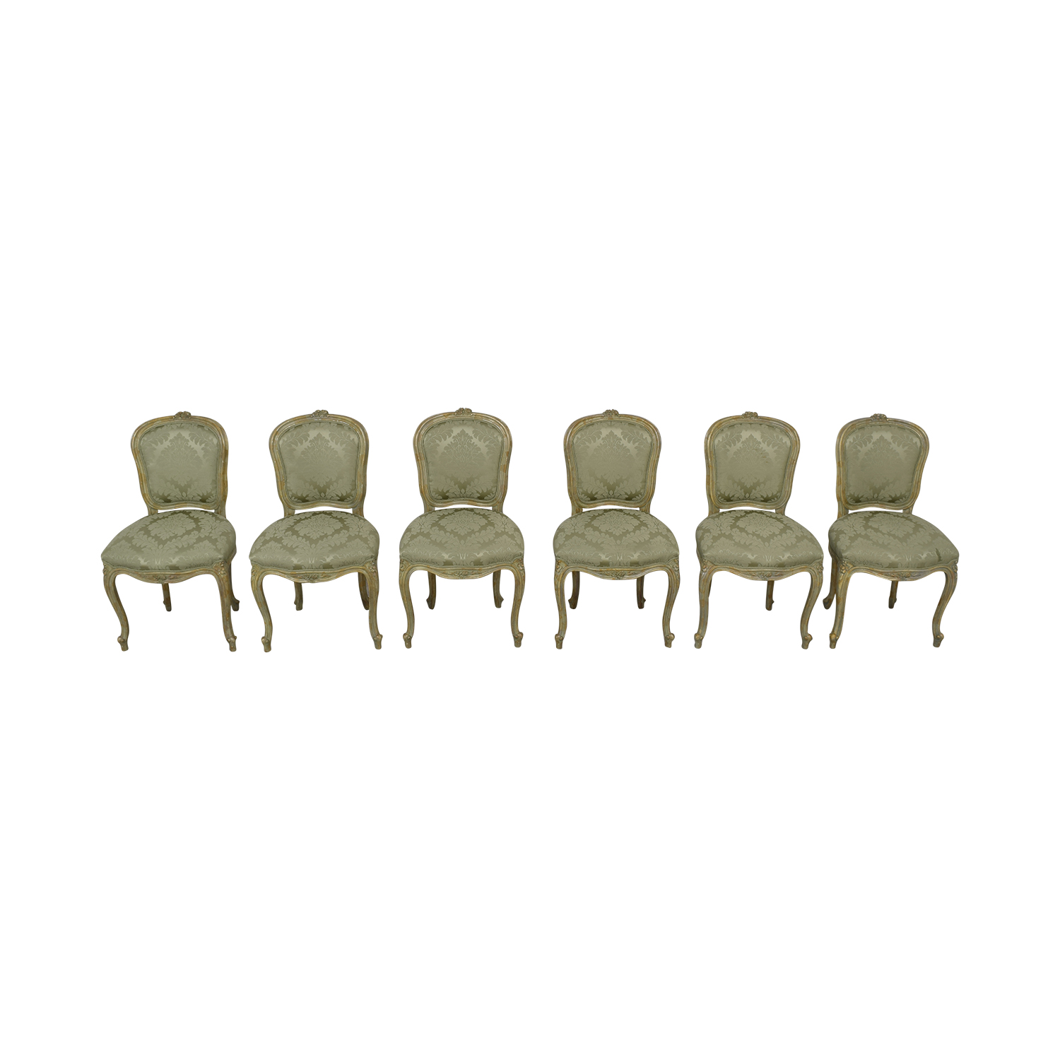 Excellent 90 Off Devon Shops Devon Shop French Celery Damask Upholstered Dining Chairs Chairs Ibusinesslaw Wood Chair Design Ideas Ibusinesslaworg