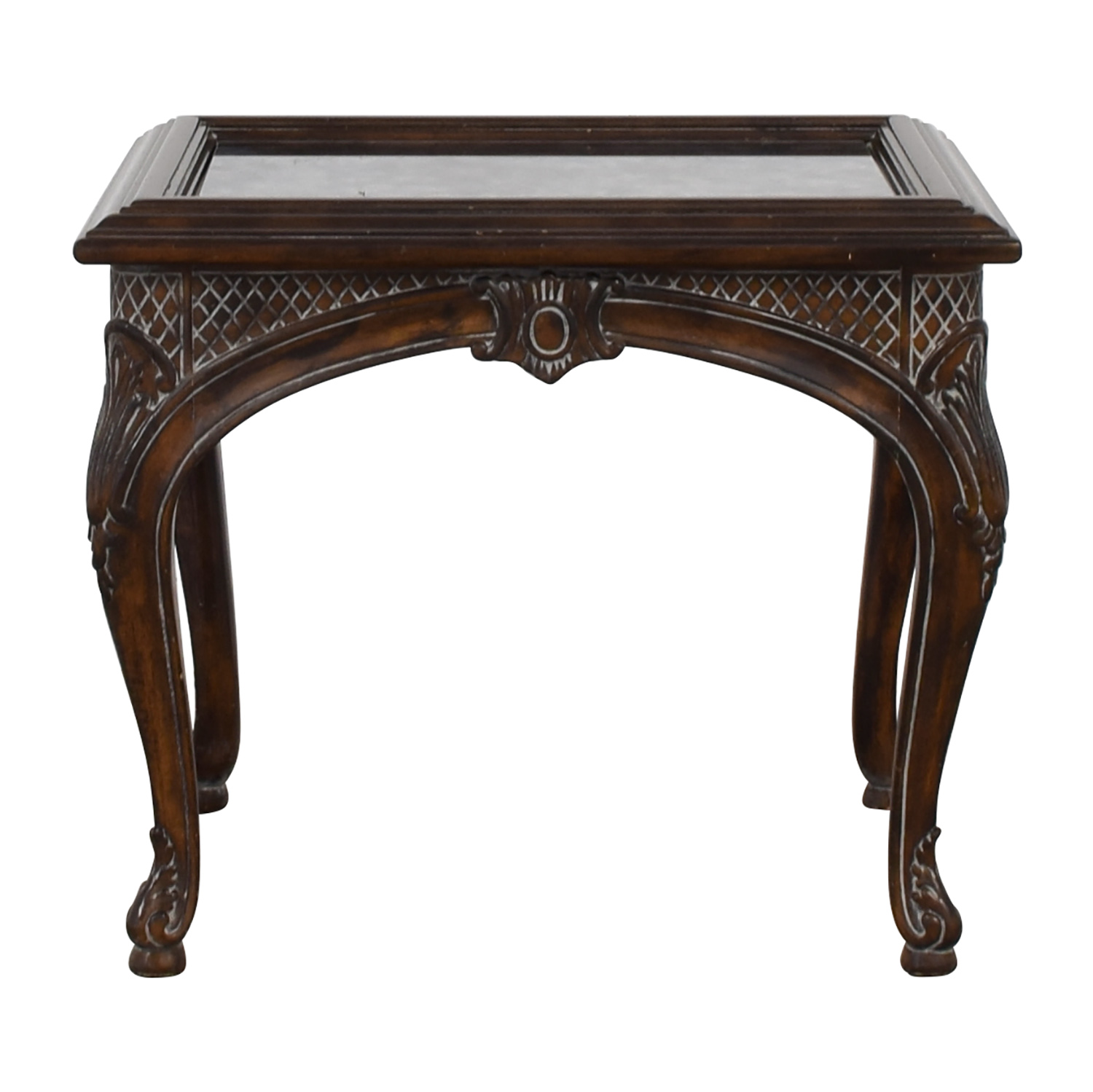 Antique Mirrored Ebony Wood Carved Side Table price