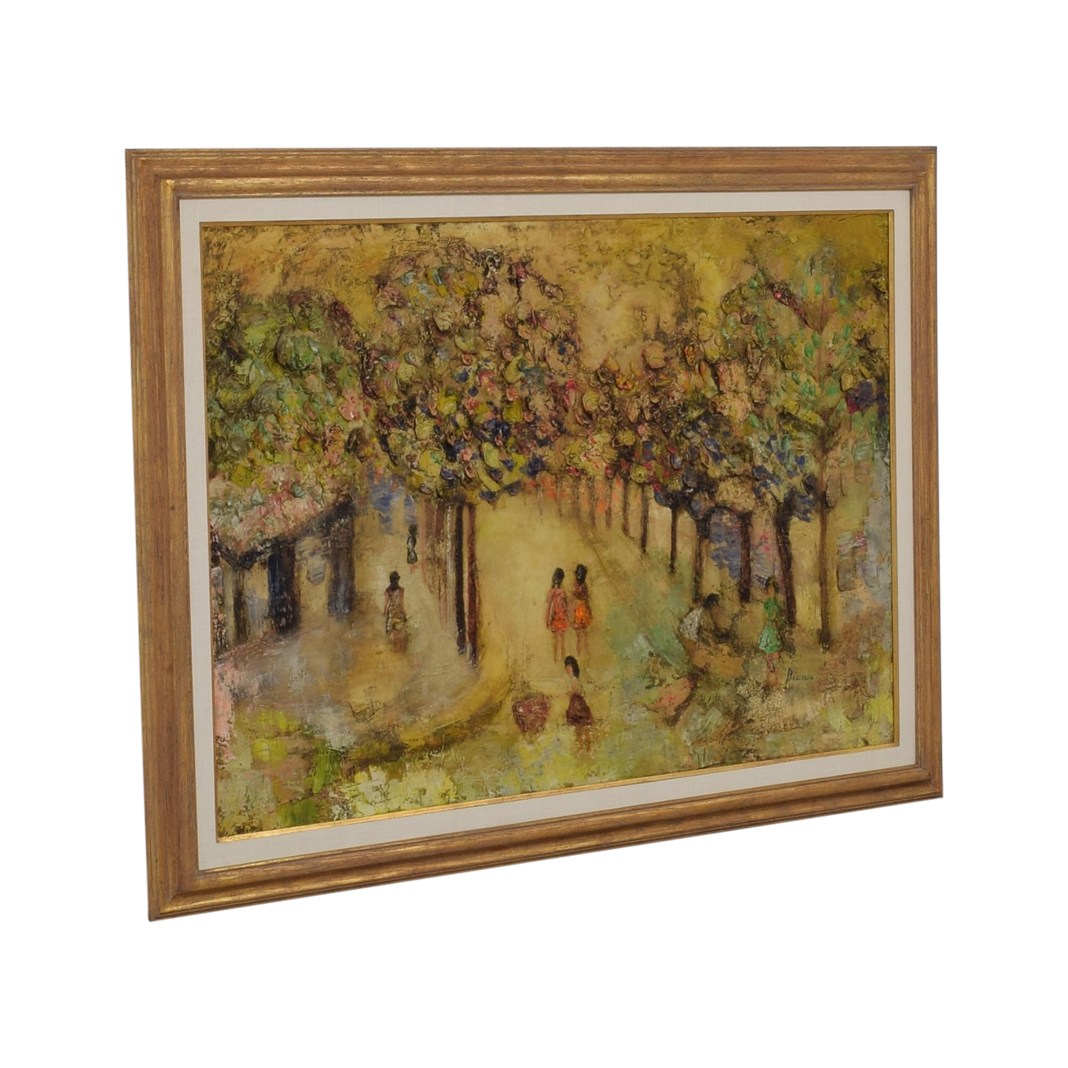 Bianca French Park Scene Oil Painting Bianca