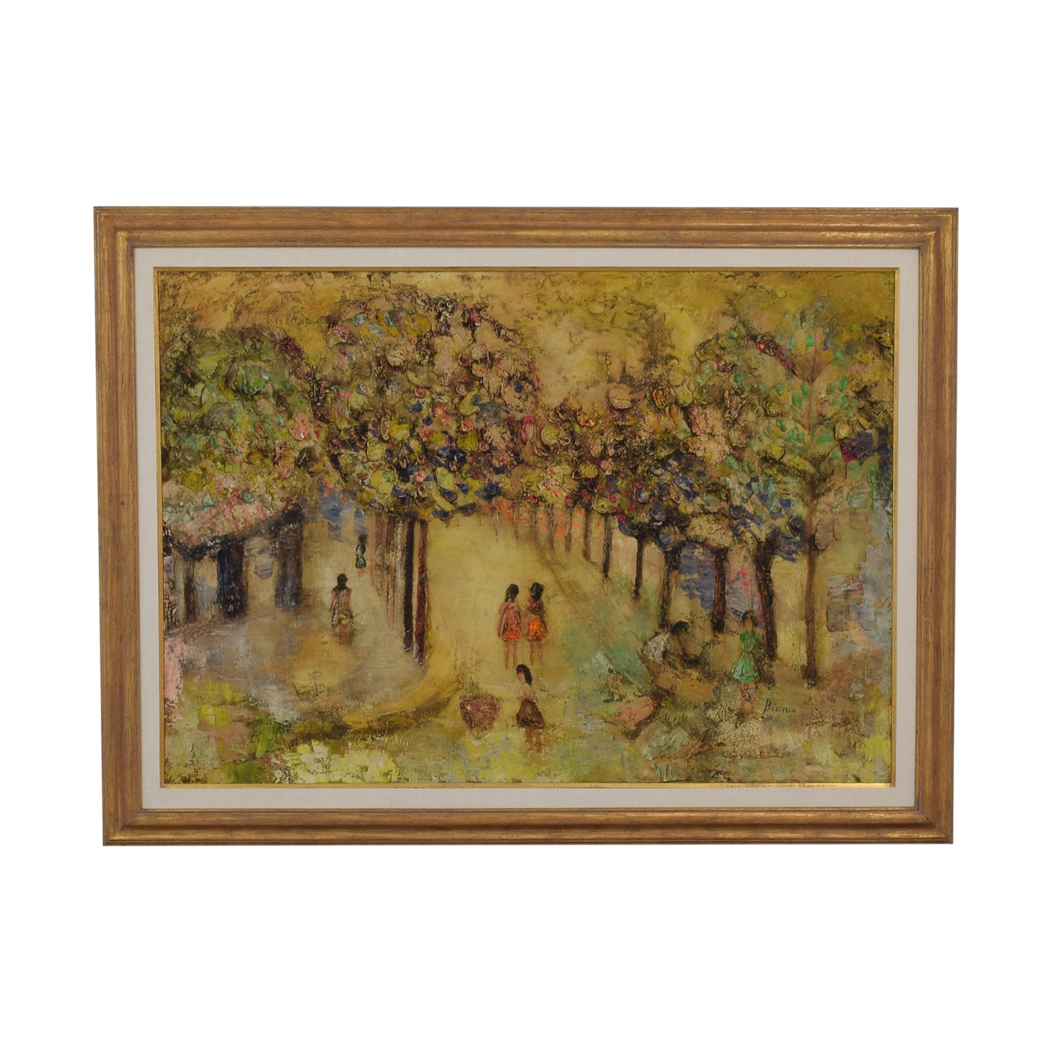 shop Bianca French Park Scene Oil Painting Bianca Wall Art