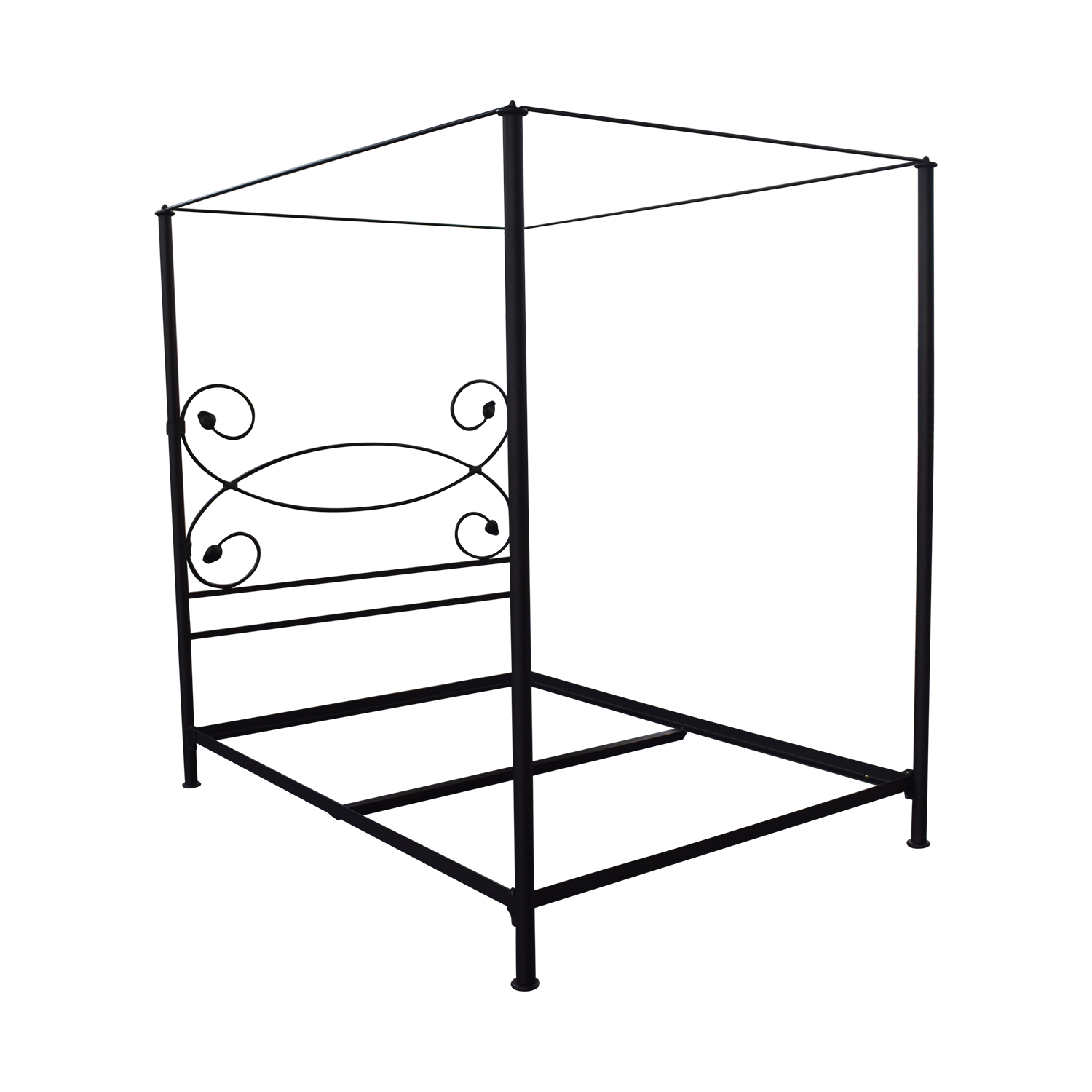 Charles P. Rogers Charles P. Rogers Iron Queen Canopy Bed Frame grey
