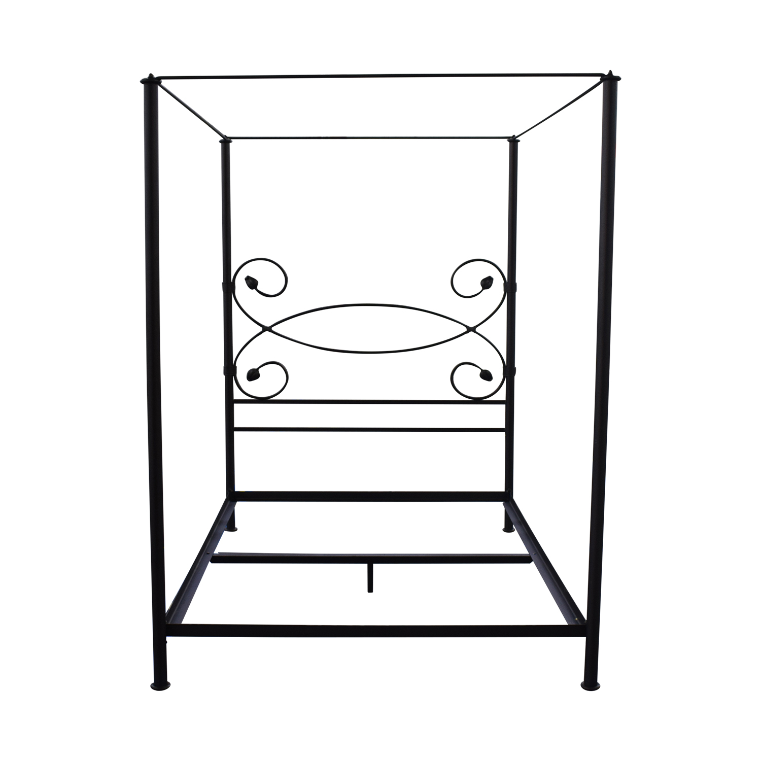 Charles P. Rogers Charles P. Rogers Iron Queen Canopy Bed Frame Beds