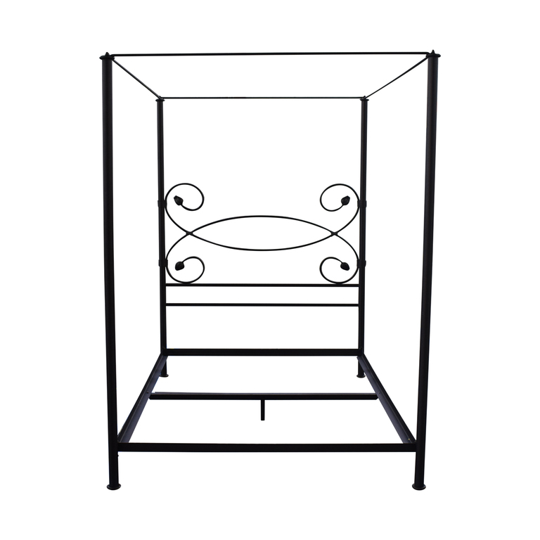 Charles P. Rogers Iron Queen Canopy Bed Frame Charles P. Rogers