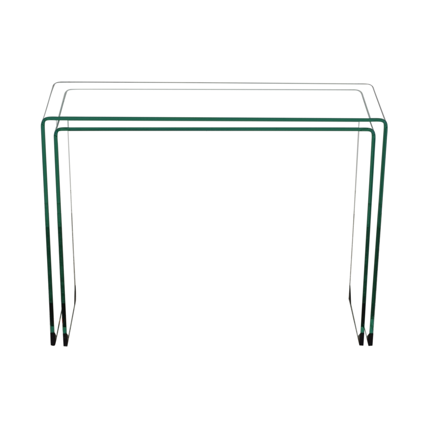 Chintaly Imports Chintaly Imports Glass Nesting Console Tables used