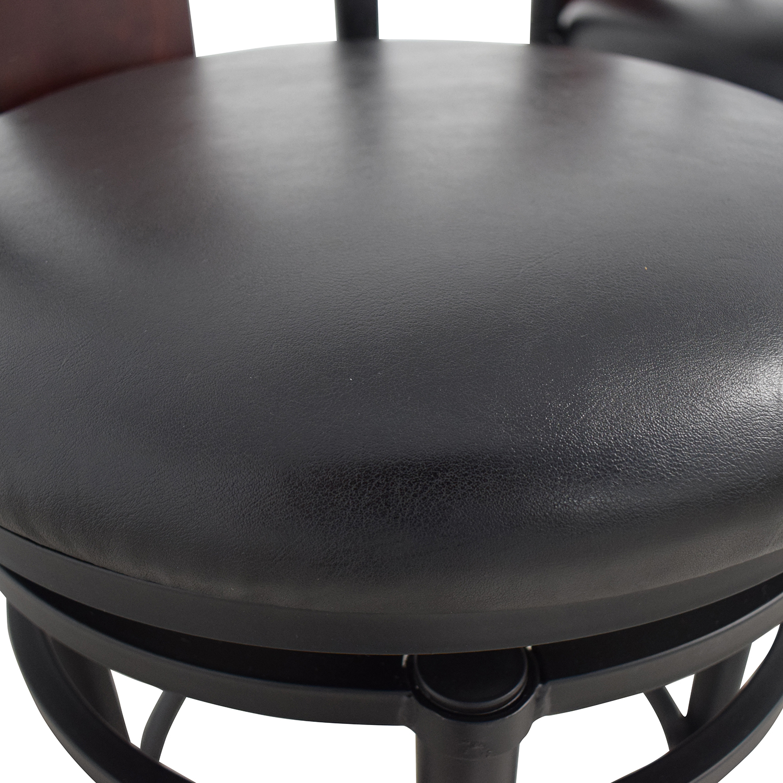 Hillsdale Furniture Hillsdale Furniture Midtown Black Swivel Counter Stools black