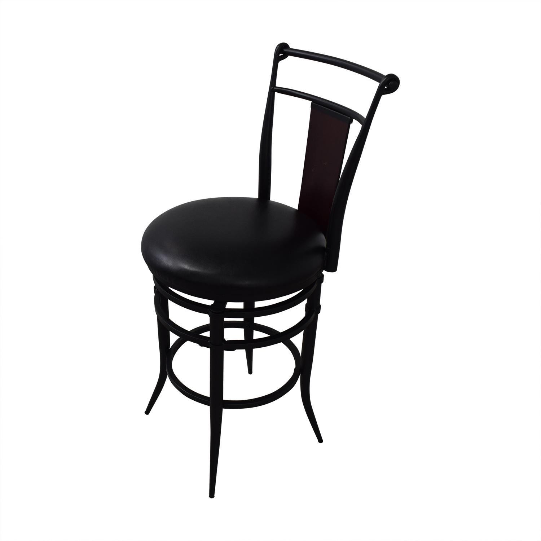 buy Hillsdale Furniture Midtown Black Swivel Counter Stools Hillsdale Furniture Stools