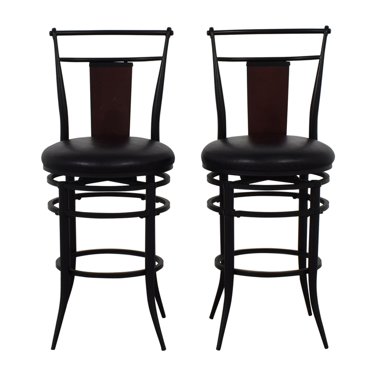 Hillsdale Furniture Hillsdale Furniture Midtown Black Swivel Counter Stools for sale