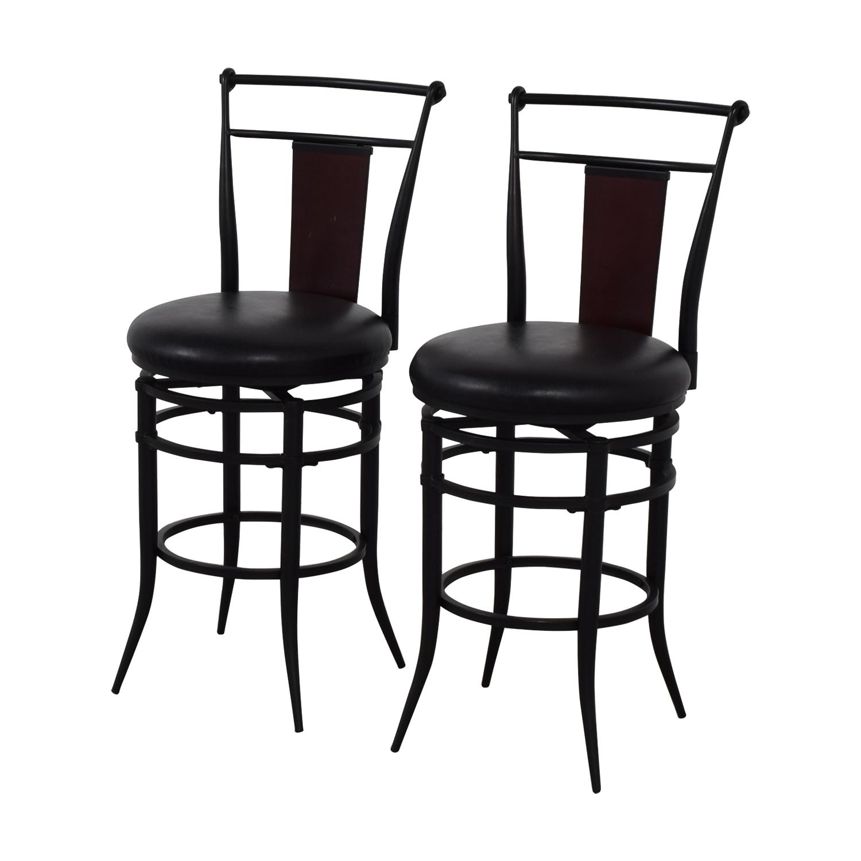 Hillsdale Furniture Hillsdale Furniture Midtown Black Swivel Counter Stools Stools