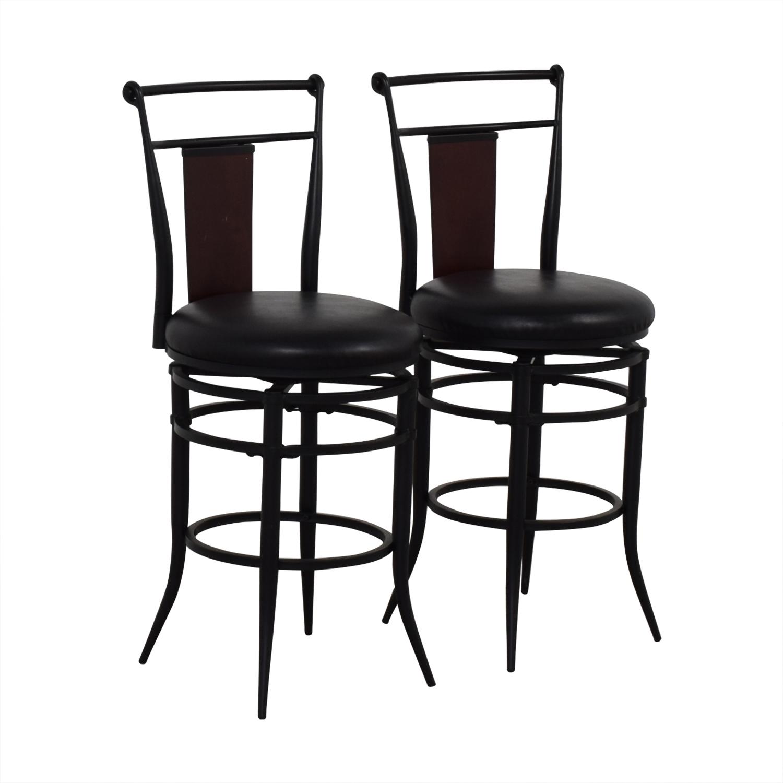 Hillsdale Furniture Midtown Black Swivel Counter Stools / Stools