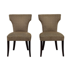 Crate & Barrel Sasha Upholstered Dining Chairs sale