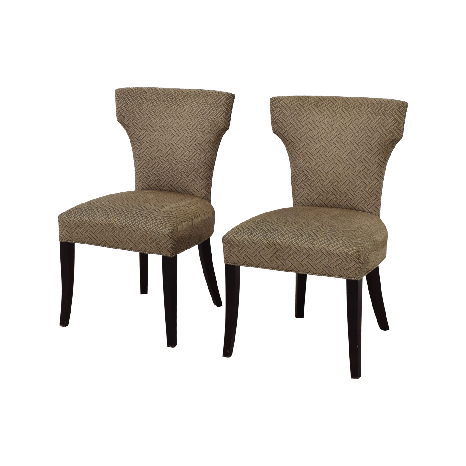 Crate & Barrel Crate & Barrel Sasha Upholstered Dining Chairs second hand