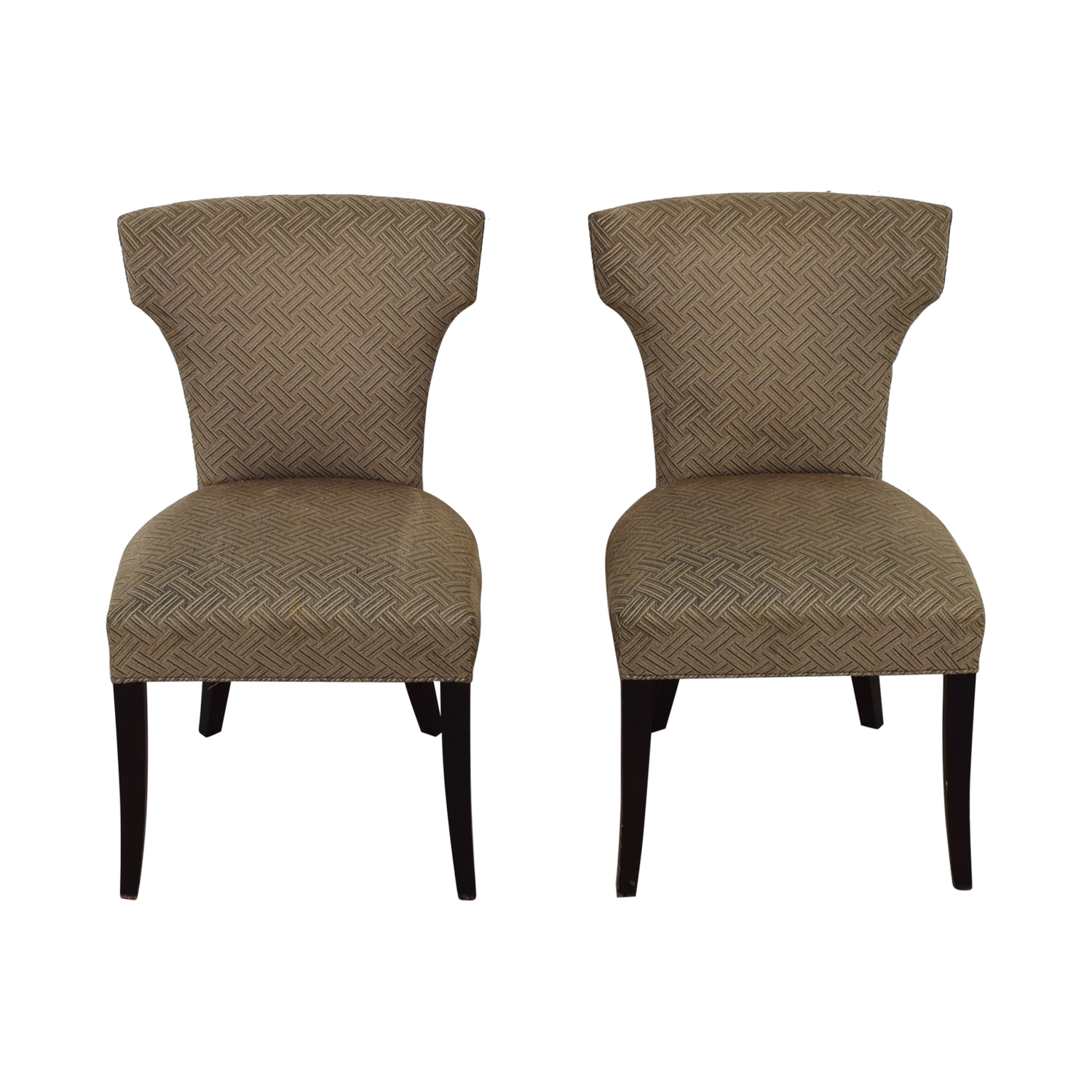 shop Crate & Barrel Sasha Upholstered Dining Chairs Crate & Barrel Chairs