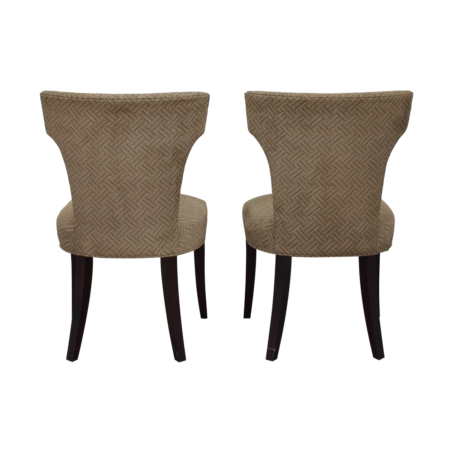 separation shoes c6046 798c6 83% OFF - Crate & Barrel Crate & Barrel Sasha Upholstered Dining Chairs /  Chairs