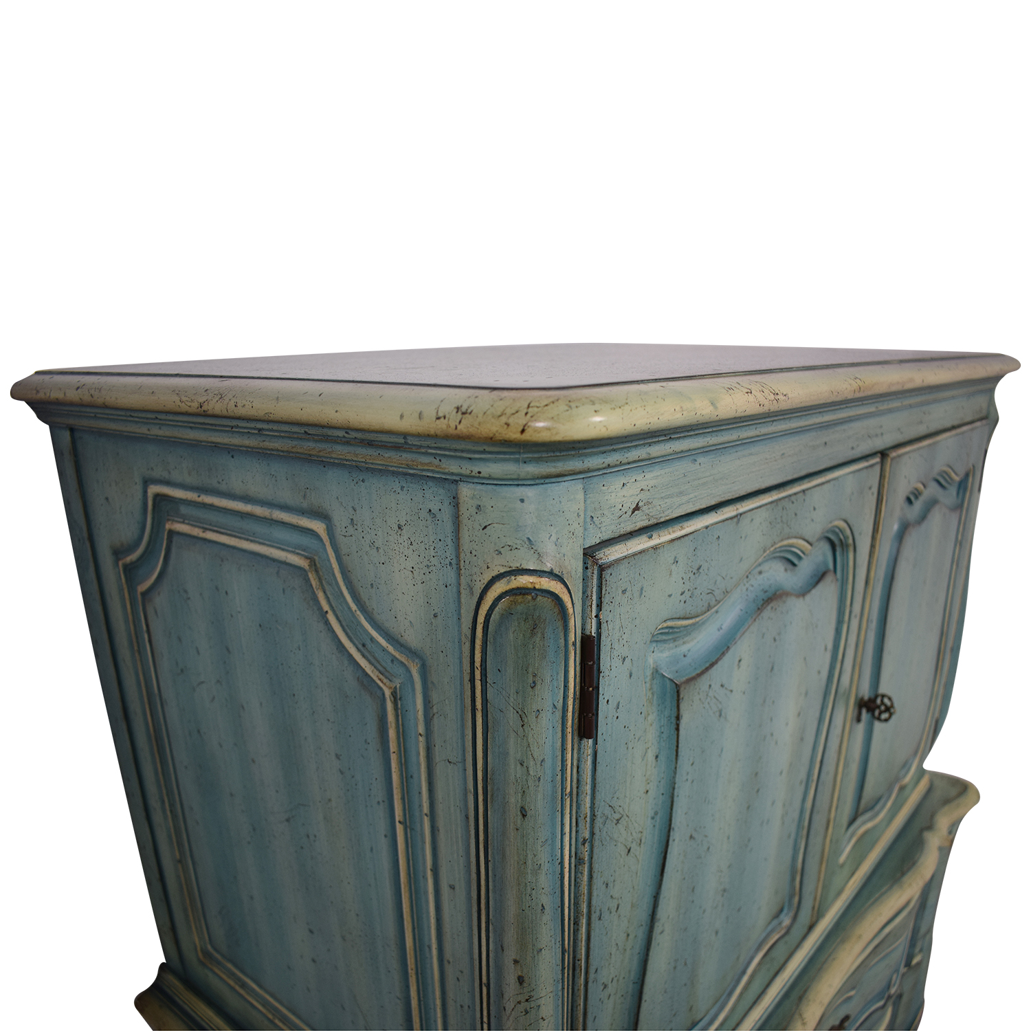 buy French Blue Six-Drawer Armoire