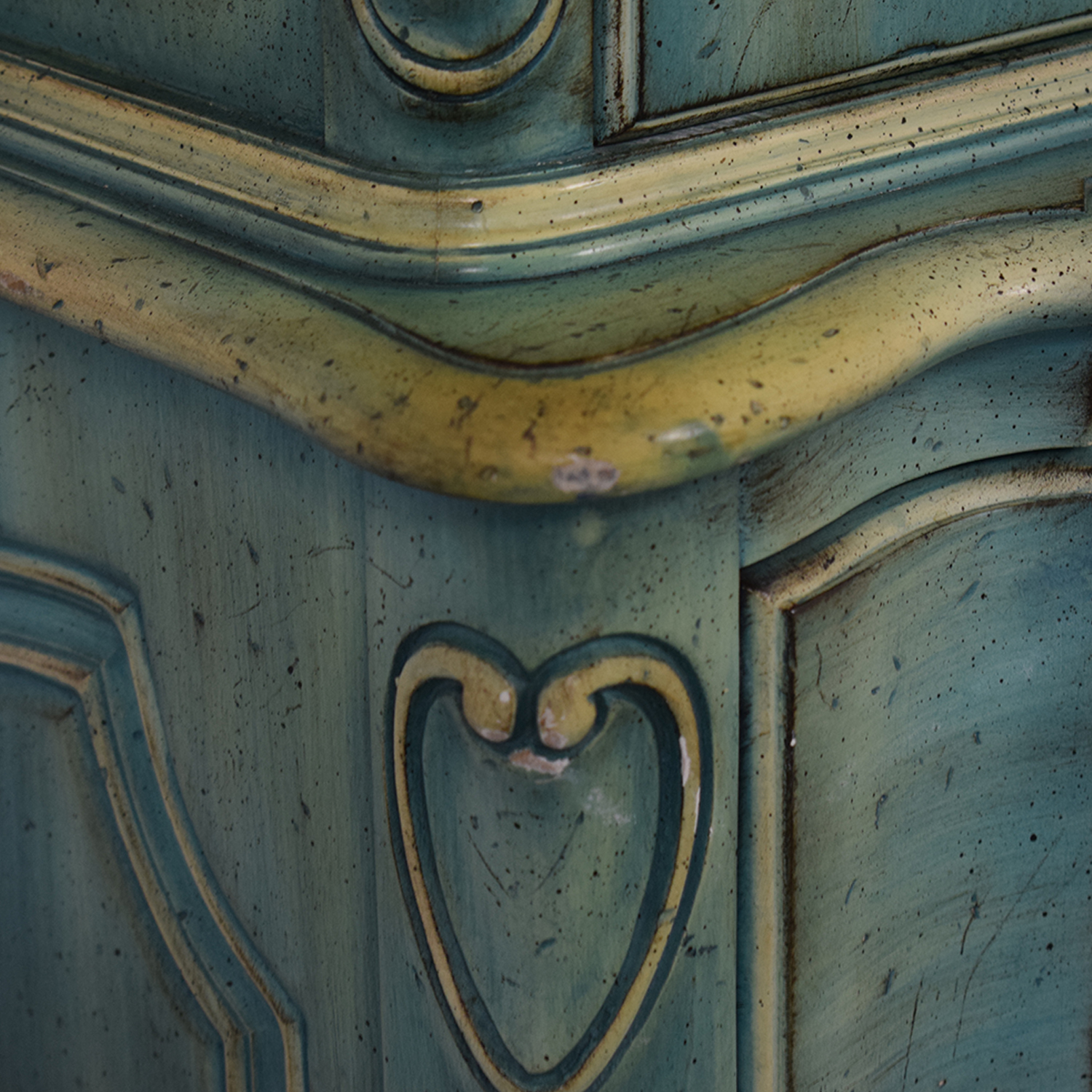 French Blue Six-Drawer Armoire price