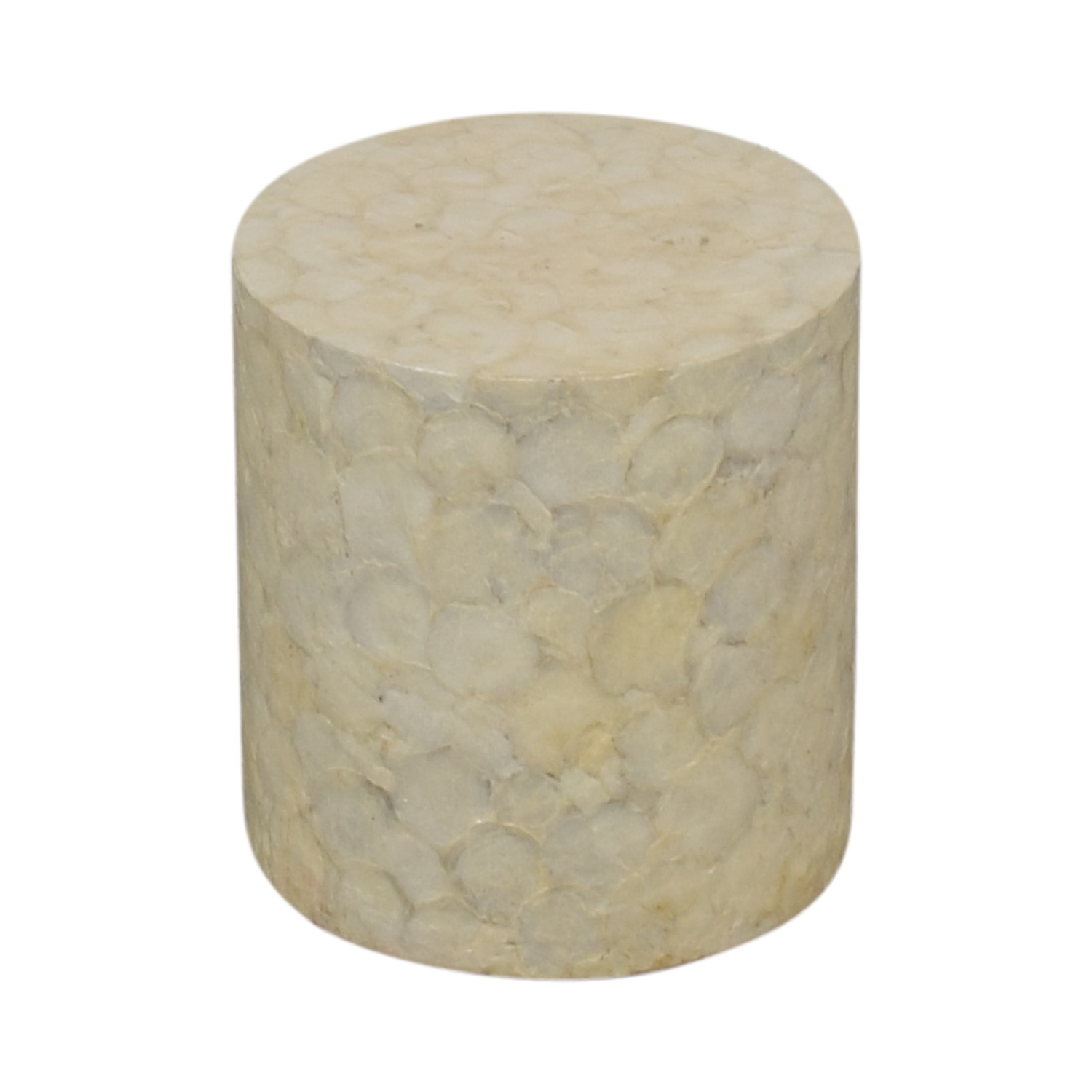 Round Ivory Mother of Pearl Garden Stool sale