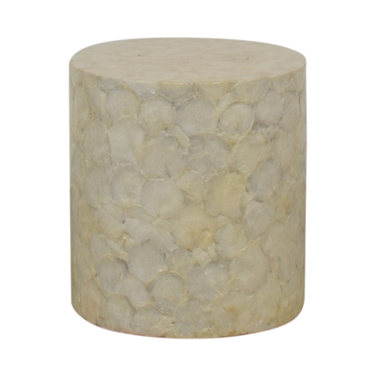 buy  Round Ivory Mother of Pearl Garden Stool online
