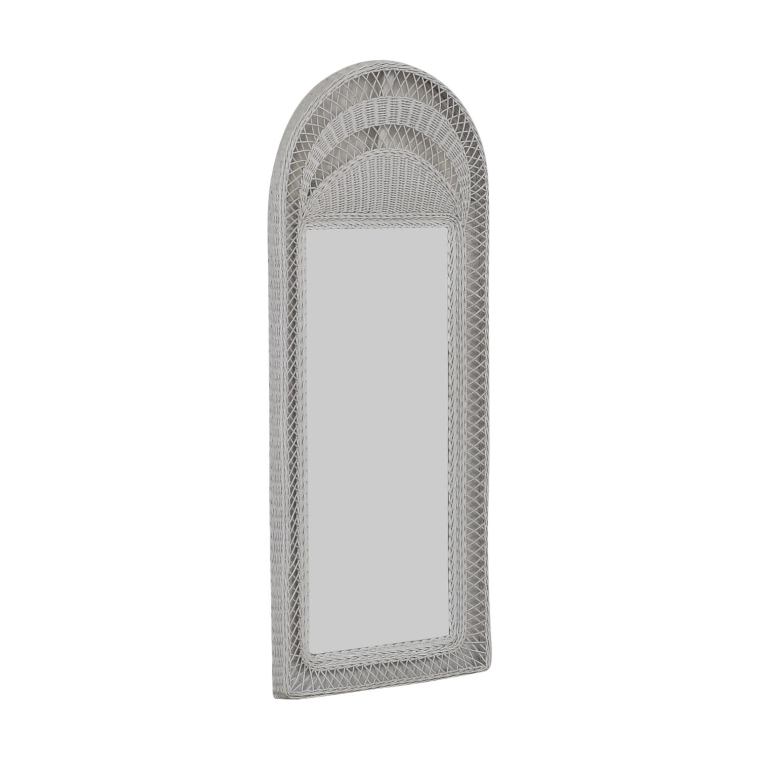 White Wicker Floor Mirror coupon
