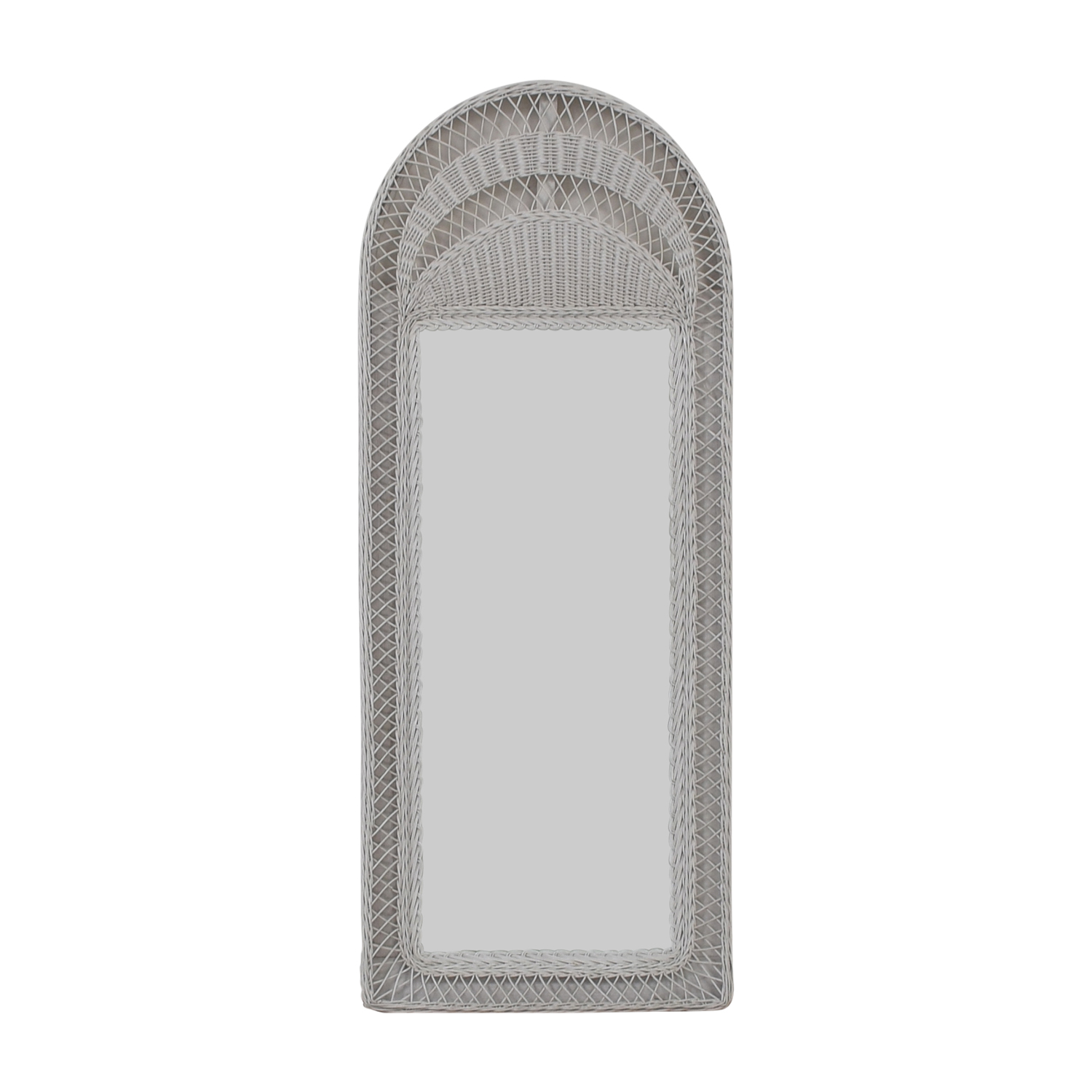 shop  White Wicker Floor Mirror online
