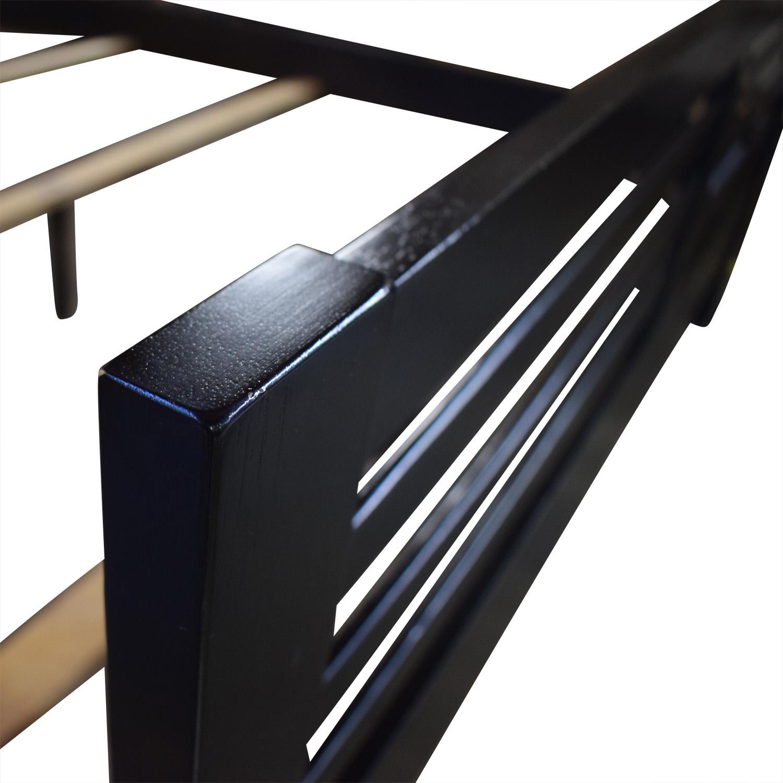 Coaster Coaster Black Modern Queen Bed Frame discount