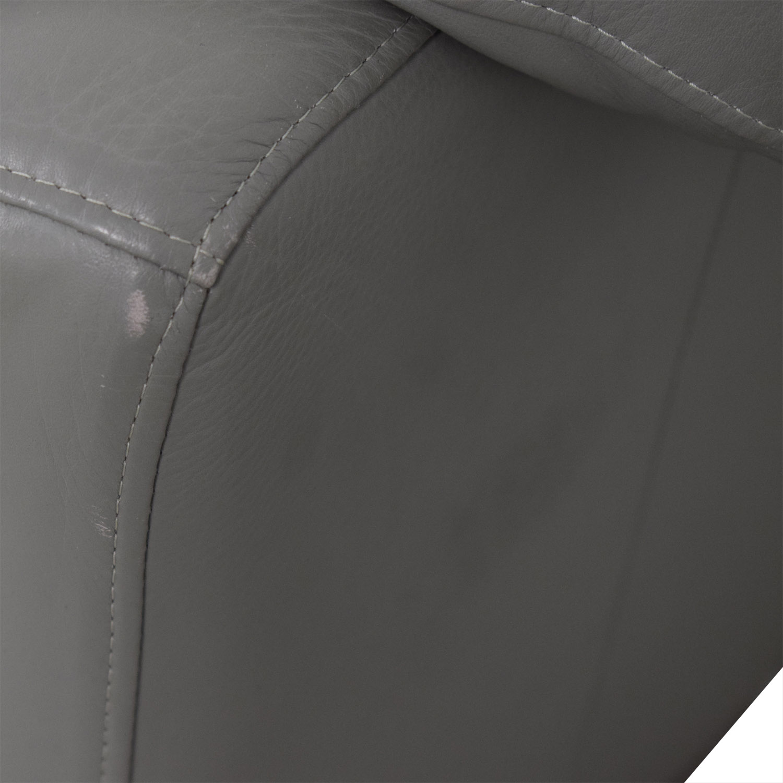 buy Italian Grey Two-Cushion Loveseat