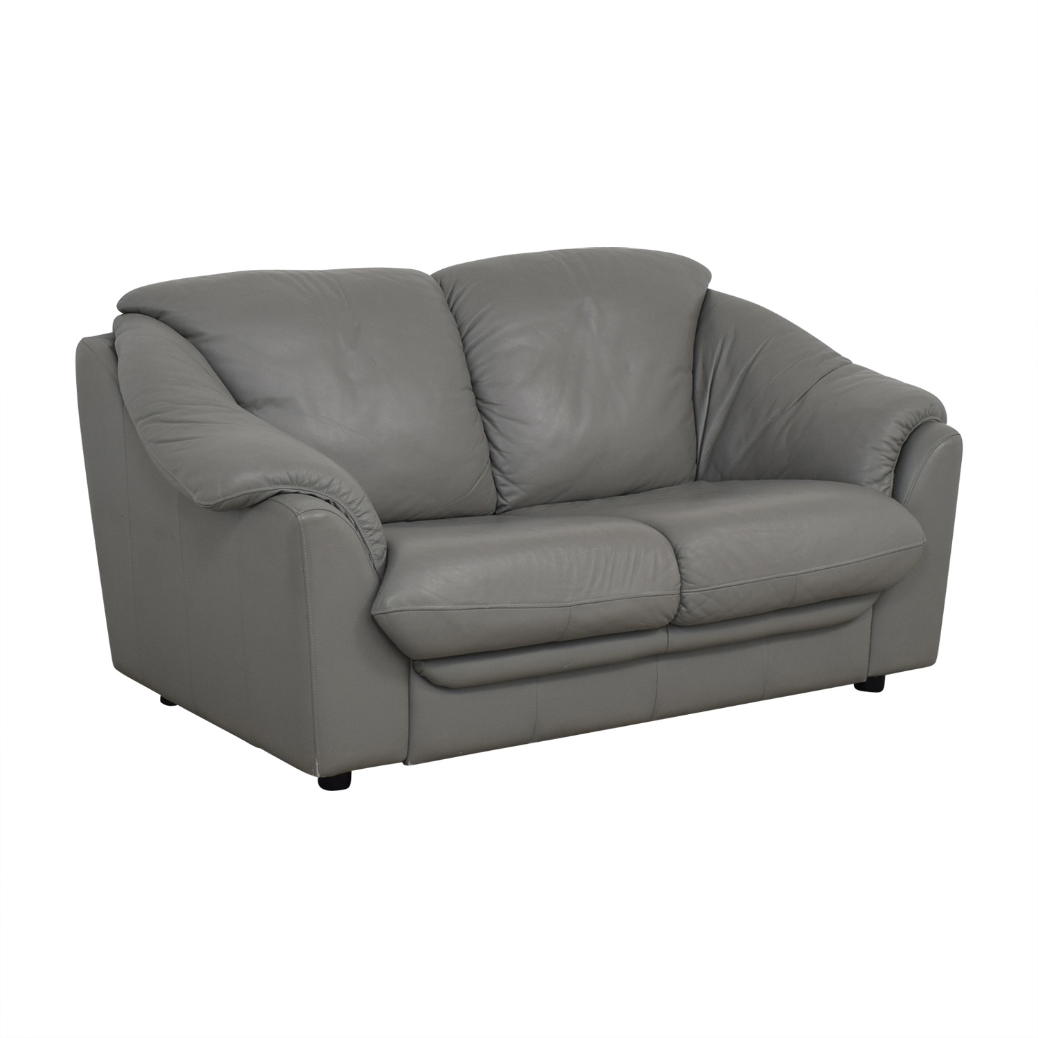 shop Italian Grey Two-Cushion Loveseat