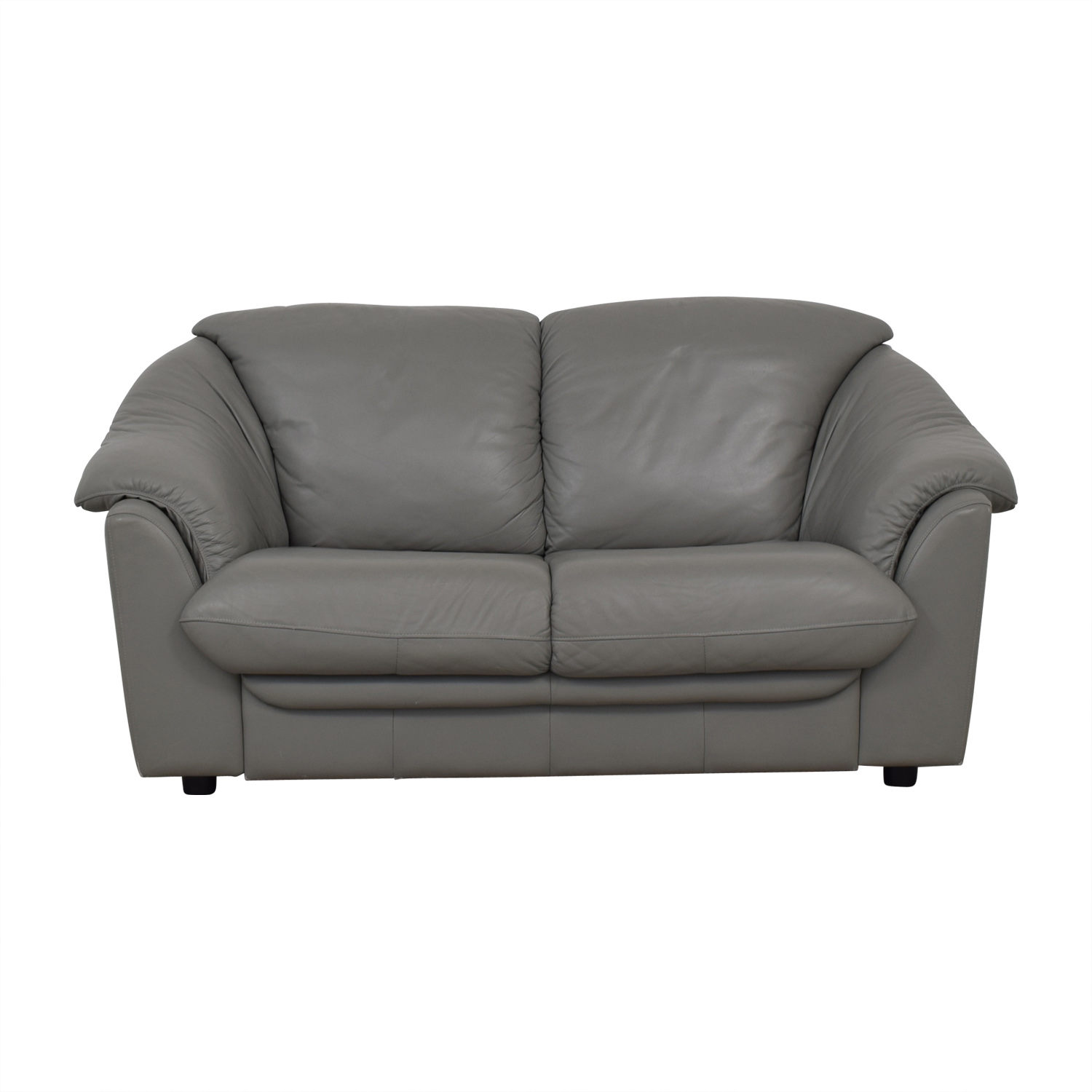 Italian Grey Two-Cushion Loveseat grey