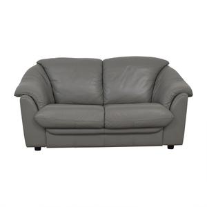 Italian Grey Two-Cushion Loveseat for sale