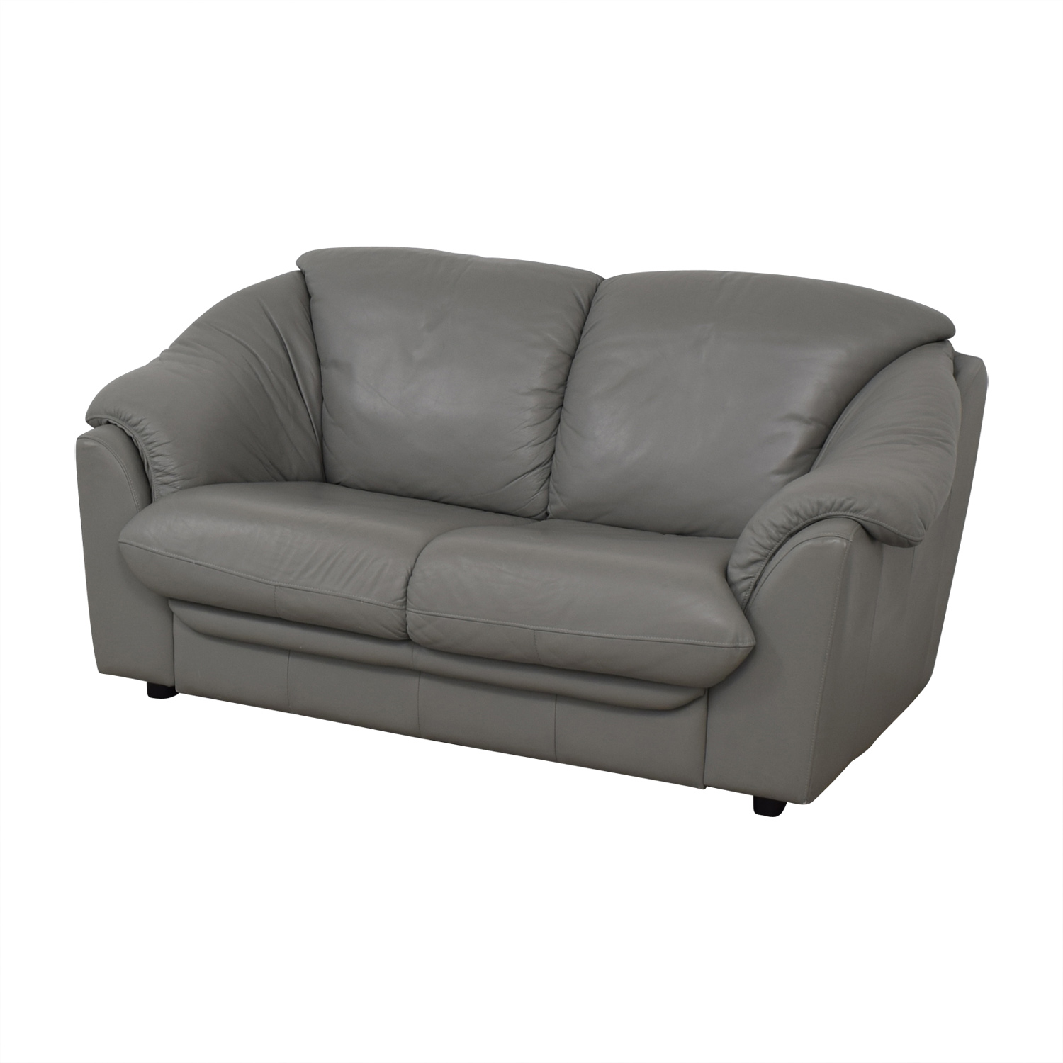 buy Italian Grey Two-Cushion Loveseat  Loveseats