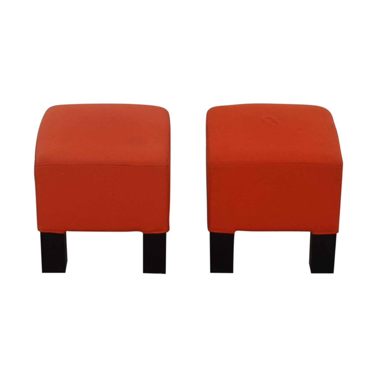 CB2 Orange Ottoman Cubes sale