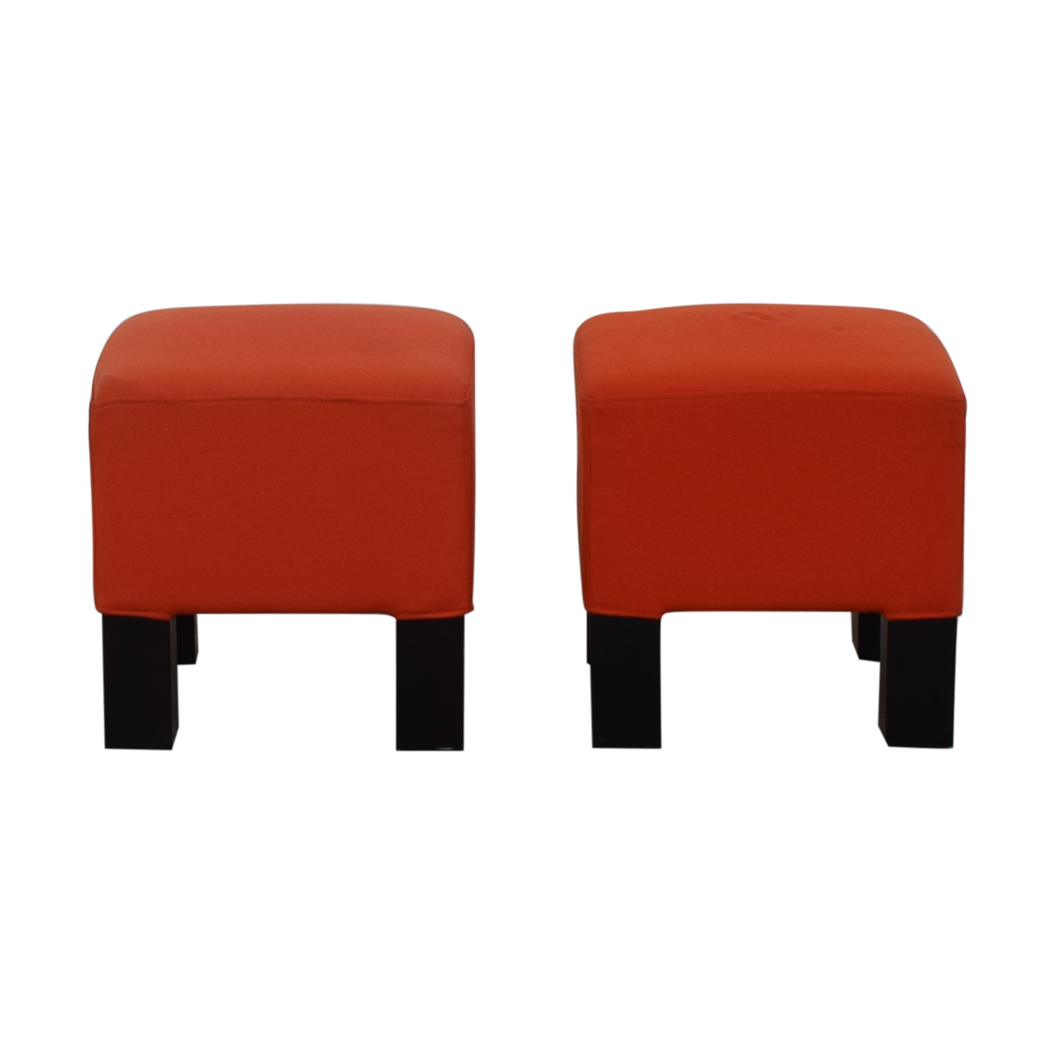 CB2 Orange Ottoman Cubes / Chairs