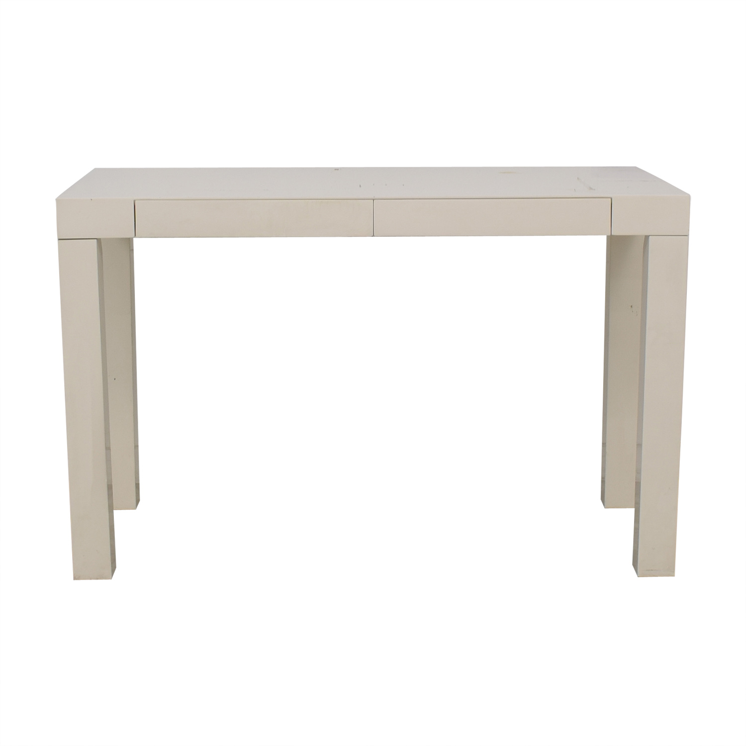 West Elm West Elm Parsons White Two-Drawer Desk on sale