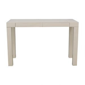 West Elm Parsons White Two-Drawer Desk West Elm