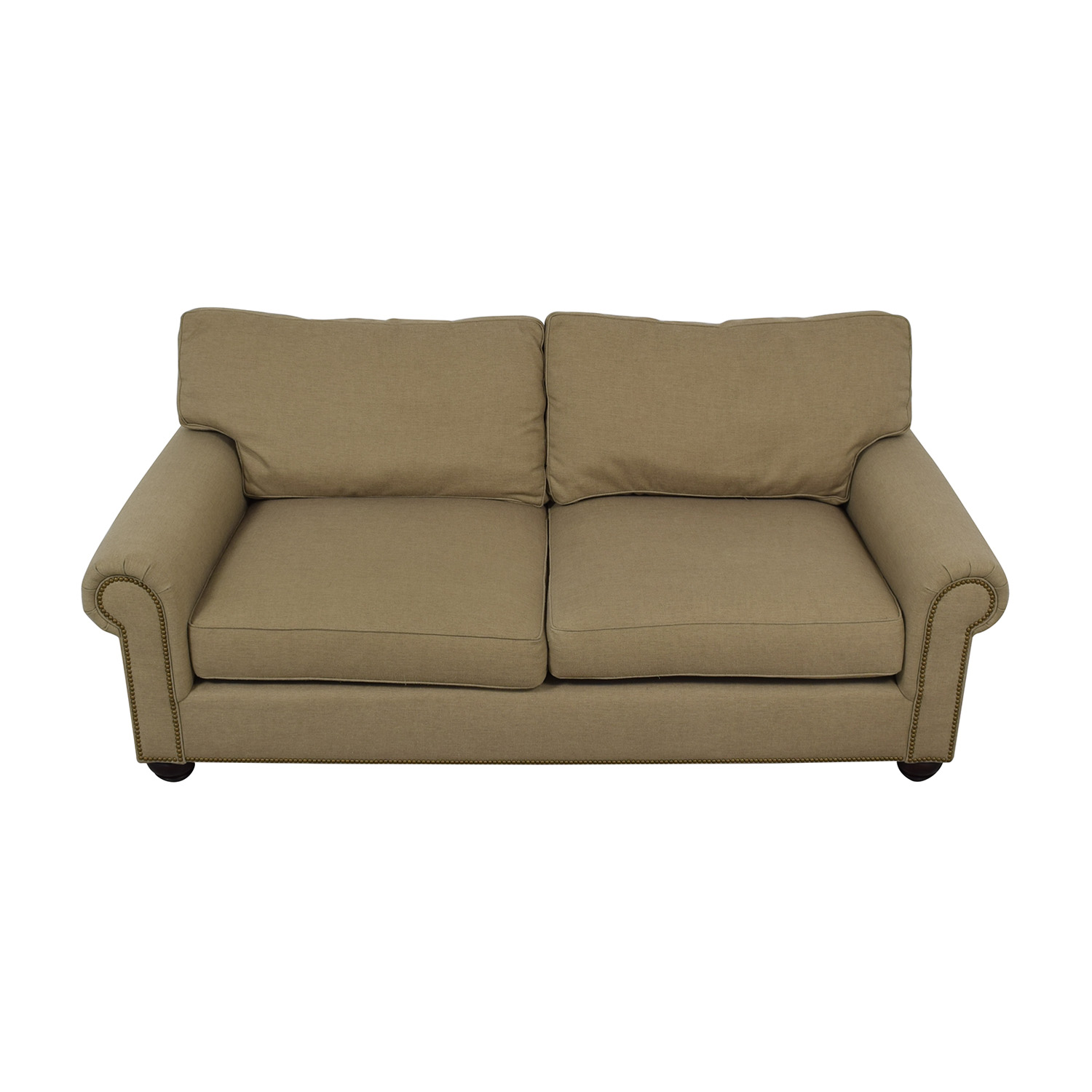 Pottery Barn Pottery Barn Webster Beige Two-Cushion Couch coupon