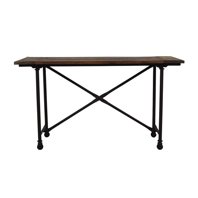 Restoration Hardware Restoration Hardware Rustic Flatiron Table for sale
