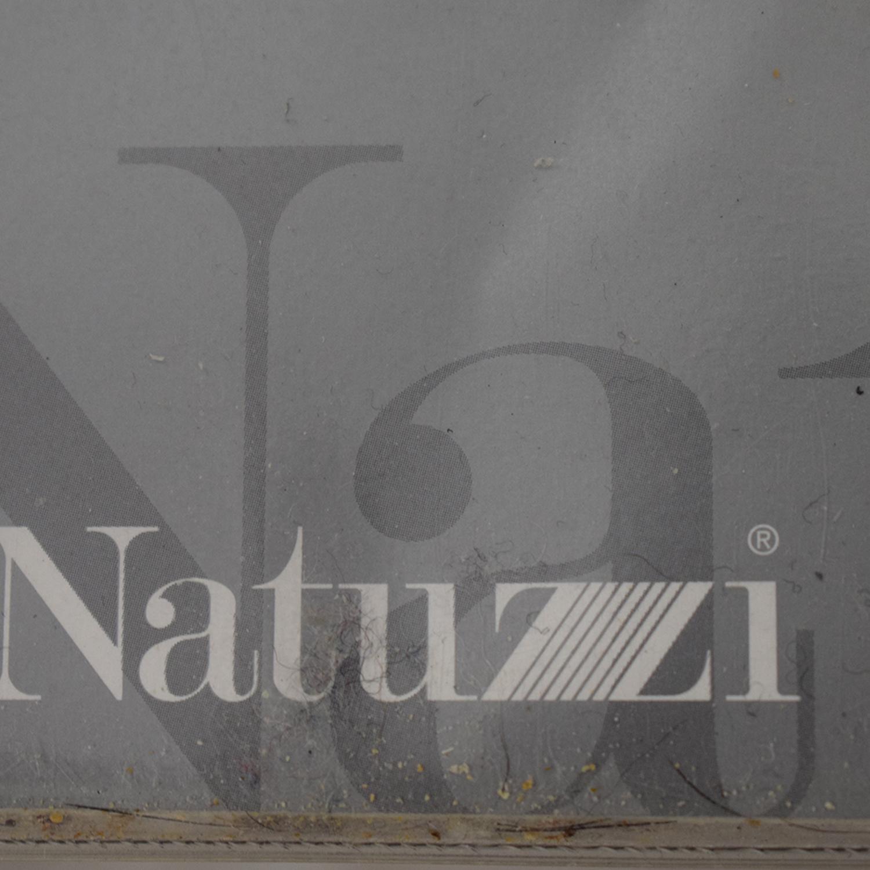 Natuzzi Natuzzi Black Leather Two-Cushion Recliner Loveseat on sale