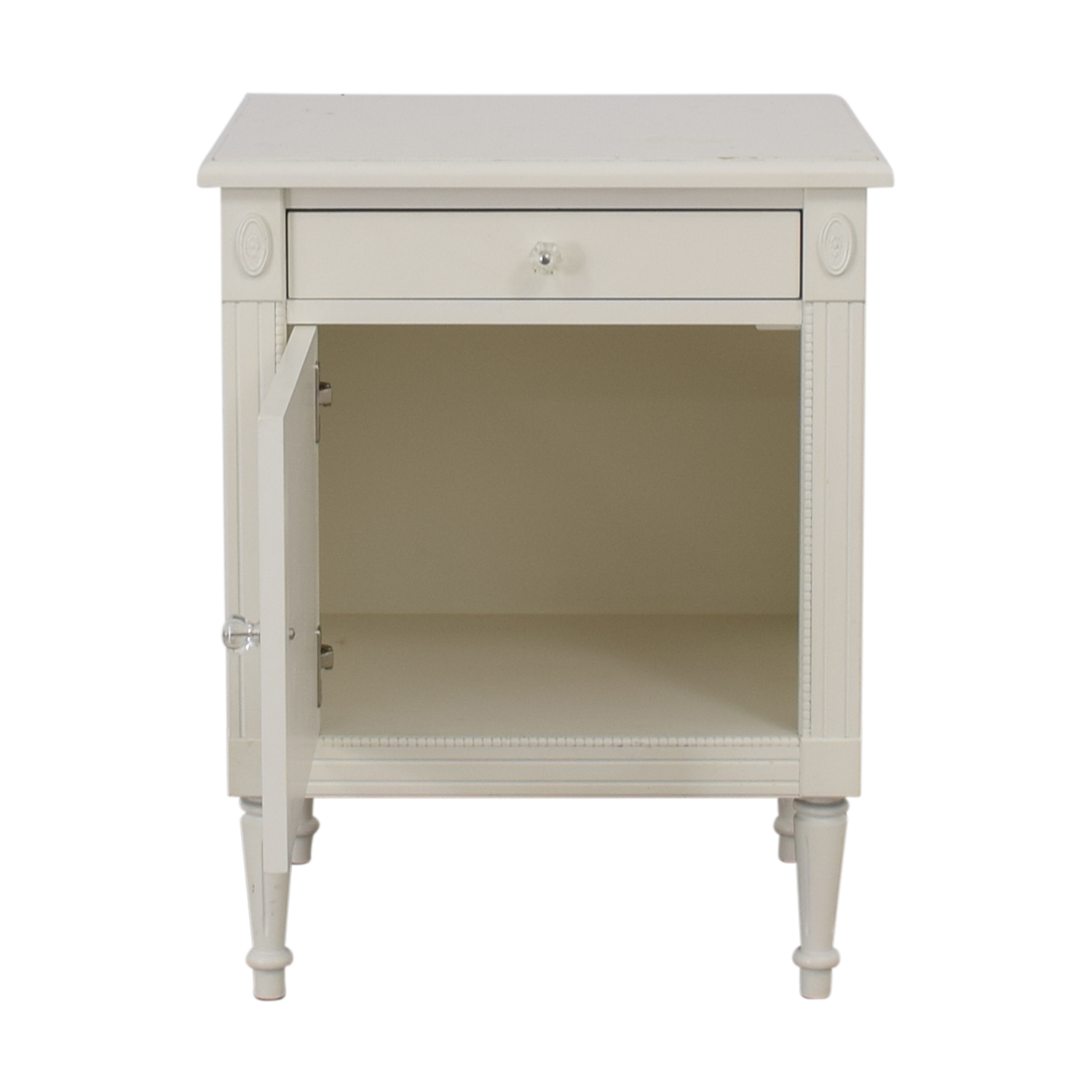 Custom White Single Drawer Nightstand