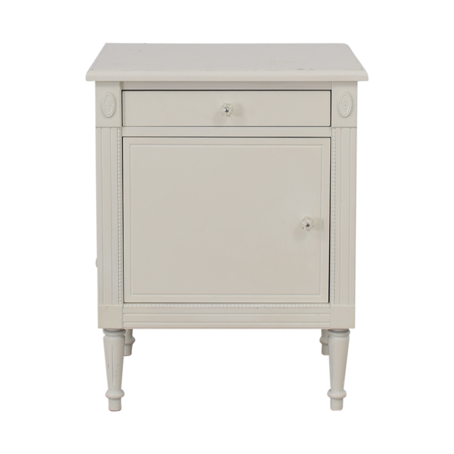 Custom White Single Drawer Nightstand discount