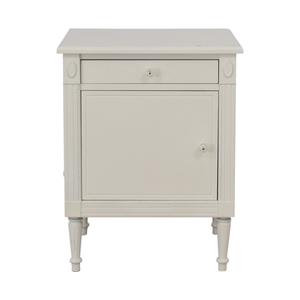 shop Custom White Single Drawer Nightstand