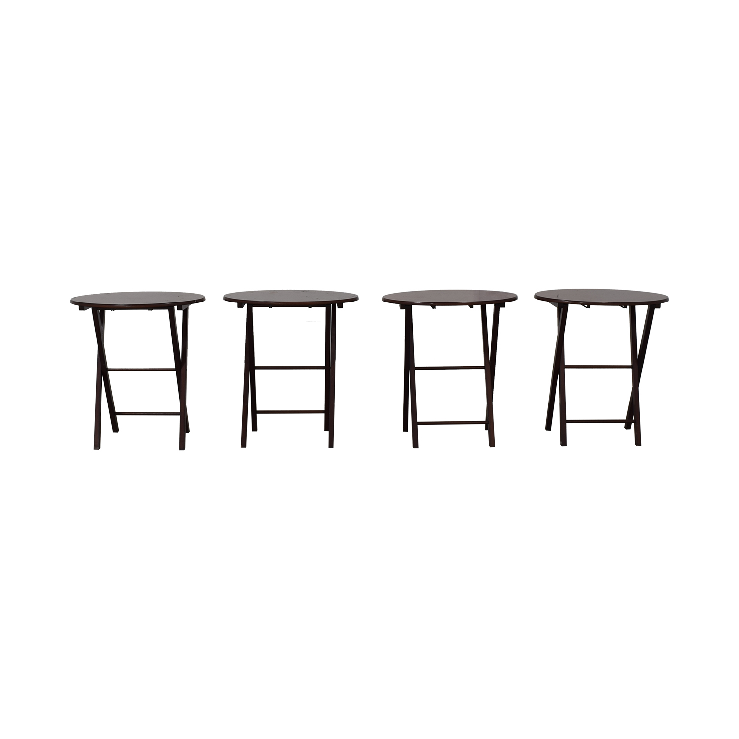 Classic Wood Folding Cocktail Tables on sale