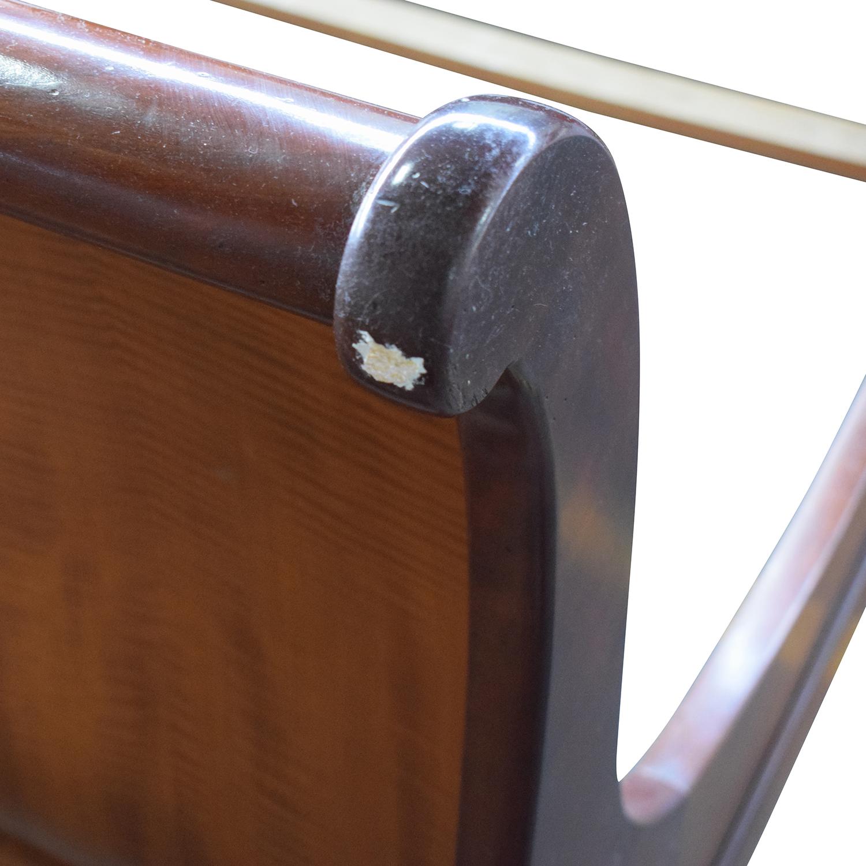 ABC Carpet & Home Cherry Wood Queen Sleigh Bed Frame sale