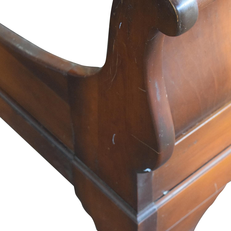 shop ABC Carpet & Home Cherry Wood Queen Sleigh Bed Frame ABC Carpet & Home Bed Frames