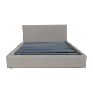 Room and Board Tan Tweed Queen Platform Bed Frame Room and Board