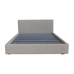 Room & Board Room and Board Tan Tweed Queen Platform Bed Frame for sale
